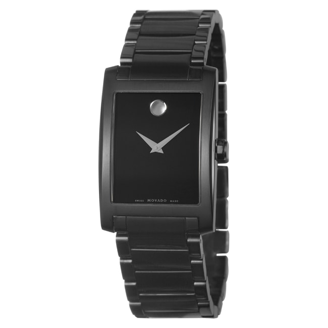 Movado Men's 'Certe' Black PVD Coated Stainless Steel Watch