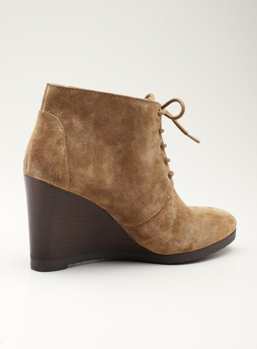 ... Franco Sarto High Wedge Laceup ankle desert bootie - Thumbnail 2 - Franco Sarto High Wedge Laceup Ankle Desert Bootie - Free Shipping