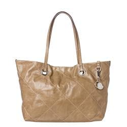 Moncler Adelaide Beige Stitched Tote Bag