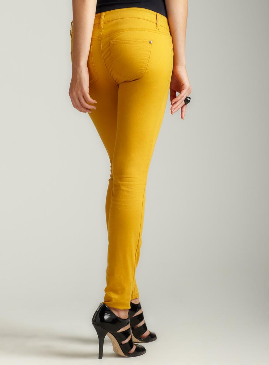 Tinseltown Color Skinny Jean In Honeycomb