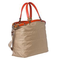 Moncler Louise Beige Nylon Tote Bag