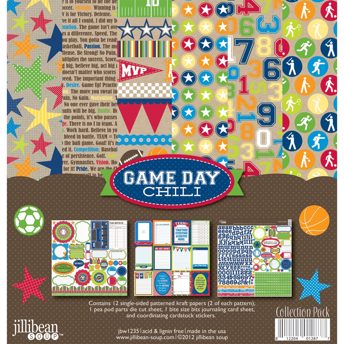 "Game Day Chili Collection Pack 12""X12IN - 14322396 - Overstock.com ..."