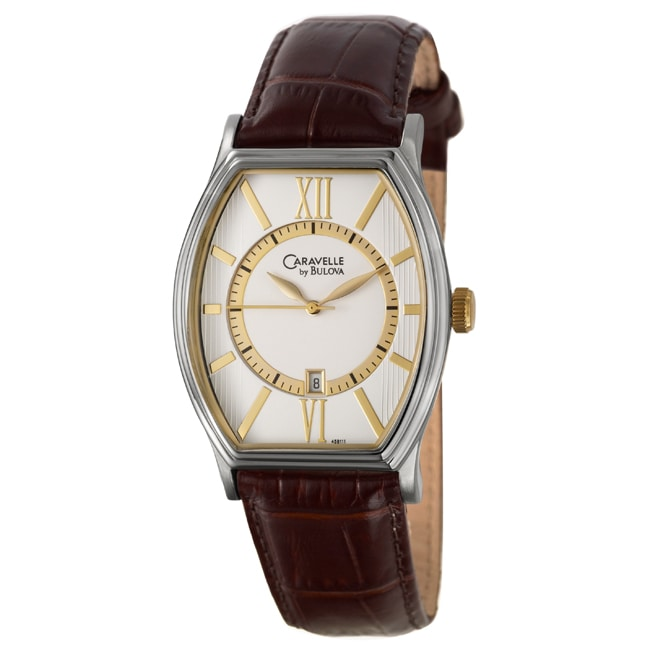 Caravelle Men's Yellow Gold-plated Stainless Steel Watch