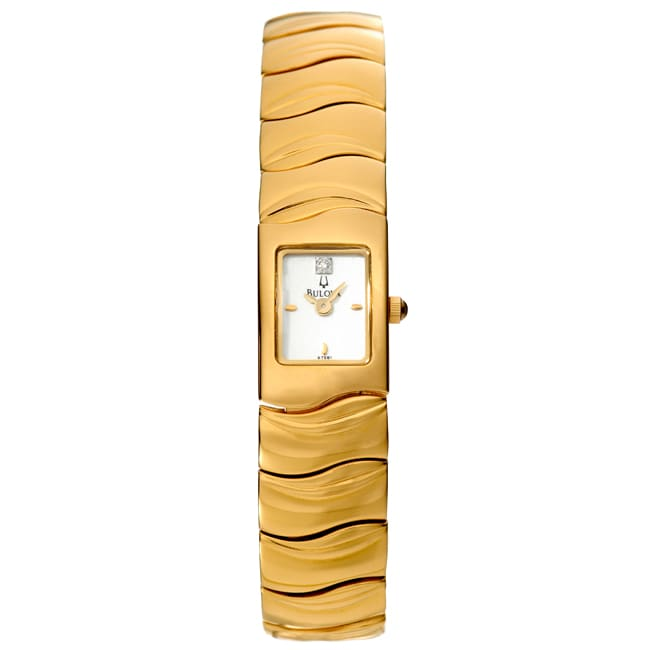 Bulova Women's Yellow Gold-plated Stainless Steel Watch