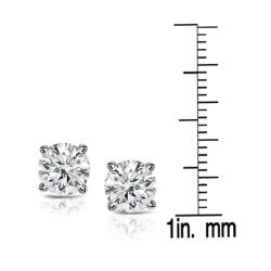 Platinum 2ct TDW Clarity-enhanced Diamond Stud Earrings