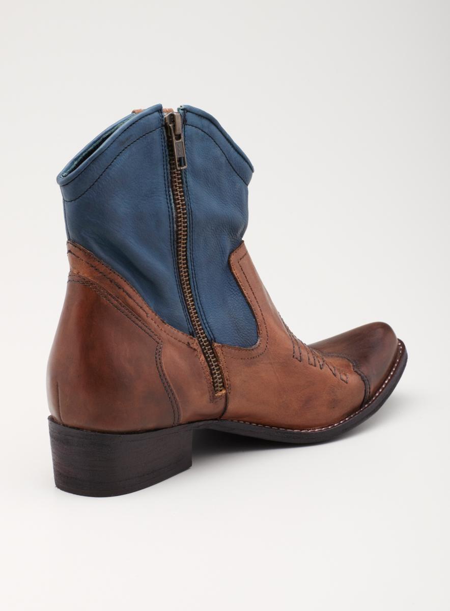 Mia Short 2Tone Cowboy Bootie - Thumbnail 1