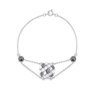 Sterling Silver 1/4ct TDW White Diamond Pave Bracelet (JK, I2-I3)