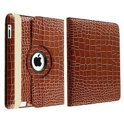 Brown Leather Case/ Screen Protector/ Stylus for Apple iPad 3 - Thumbnail 1