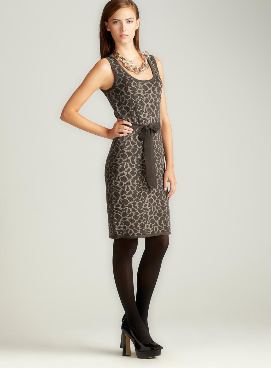 Grace Leo-Jacq Scoop Nk Sheath Dress