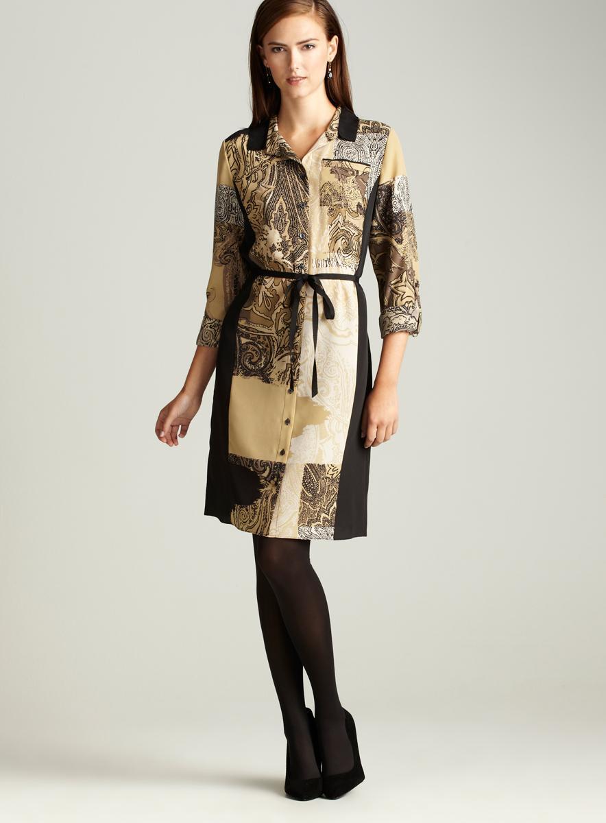 T. Tahari Katie Marrakesh Print Dress