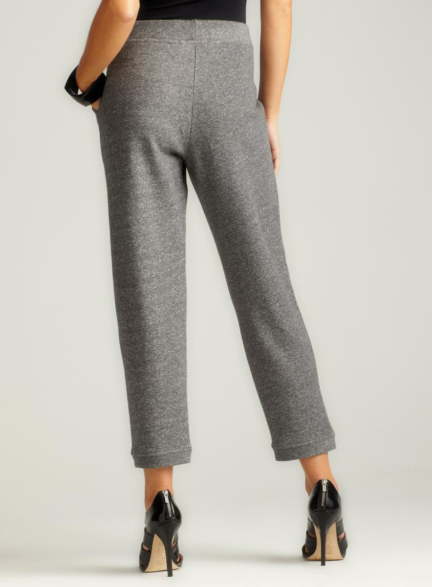 Joan Vass Easy-Drawstring Pant With Pocket - Thumbnail 1