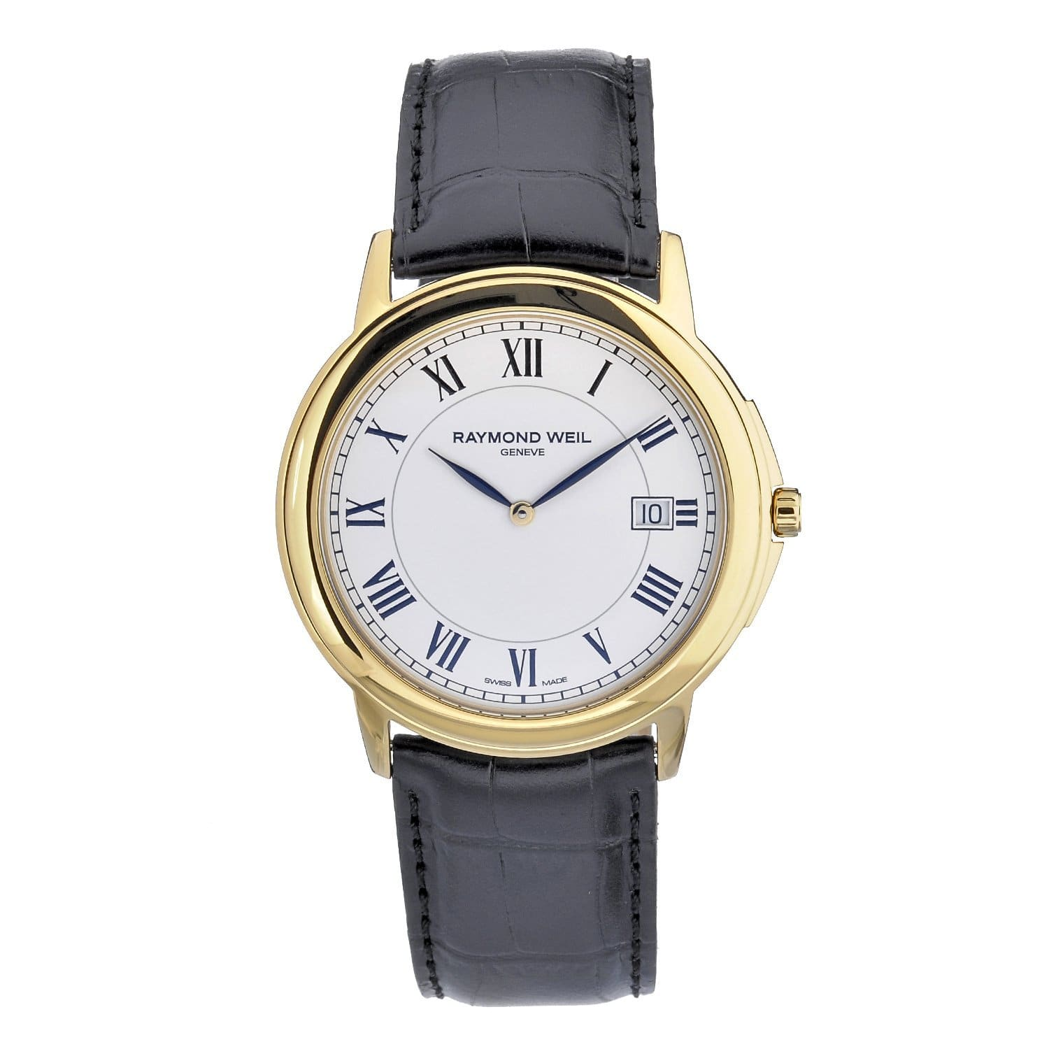 Raymond Weil Men's Tradition Leather Strap Watch|https://ak1.ostkcdn.com/images/products/80/529/P14648266.jpg?impolicy=medium