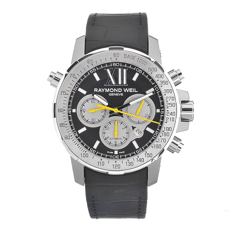 Raymond Weil Men's Automatic Titanium Black Dial Chronograph Watch
