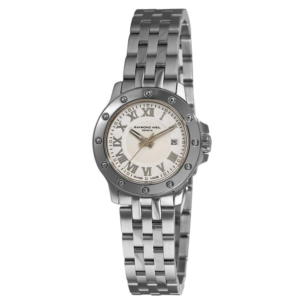Raymond Weil Women's 'Tango' White Roman Numerals Dial Watch