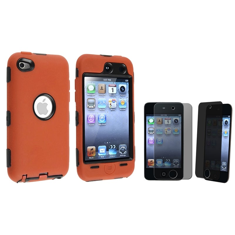 Hybrid Case/ Privacy LCD Protector for Apple iPod Touch 4th Generation