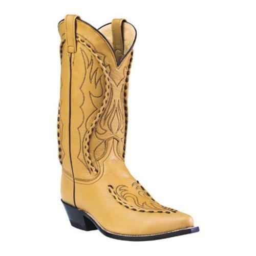 Men's Dan Post Boots Buckstitched Handlaced 13 Camel Deertan