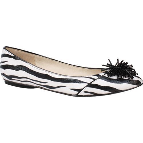 Women's J. Renee Darcy Black/White Zebra Fabric