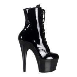 Women's Pleaser Adore 1020 Black Patent/Black (More options available)