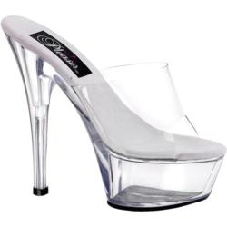 Pleaser Women's Kiss 201 Clear/Clear