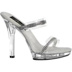 Women's Pleaser Lip 102-2 Clear/Clear Heels (More options available)