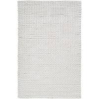 Hand-woven Albali IvoryBraided Texture New Zealand Wool Area Rug (2' x 3')