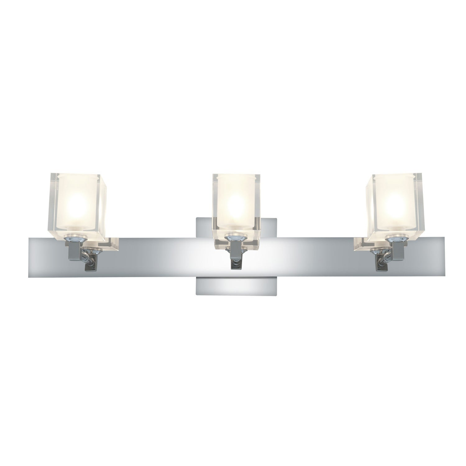 Access Glas'e 3-light Chrome Square Vanity Fixture