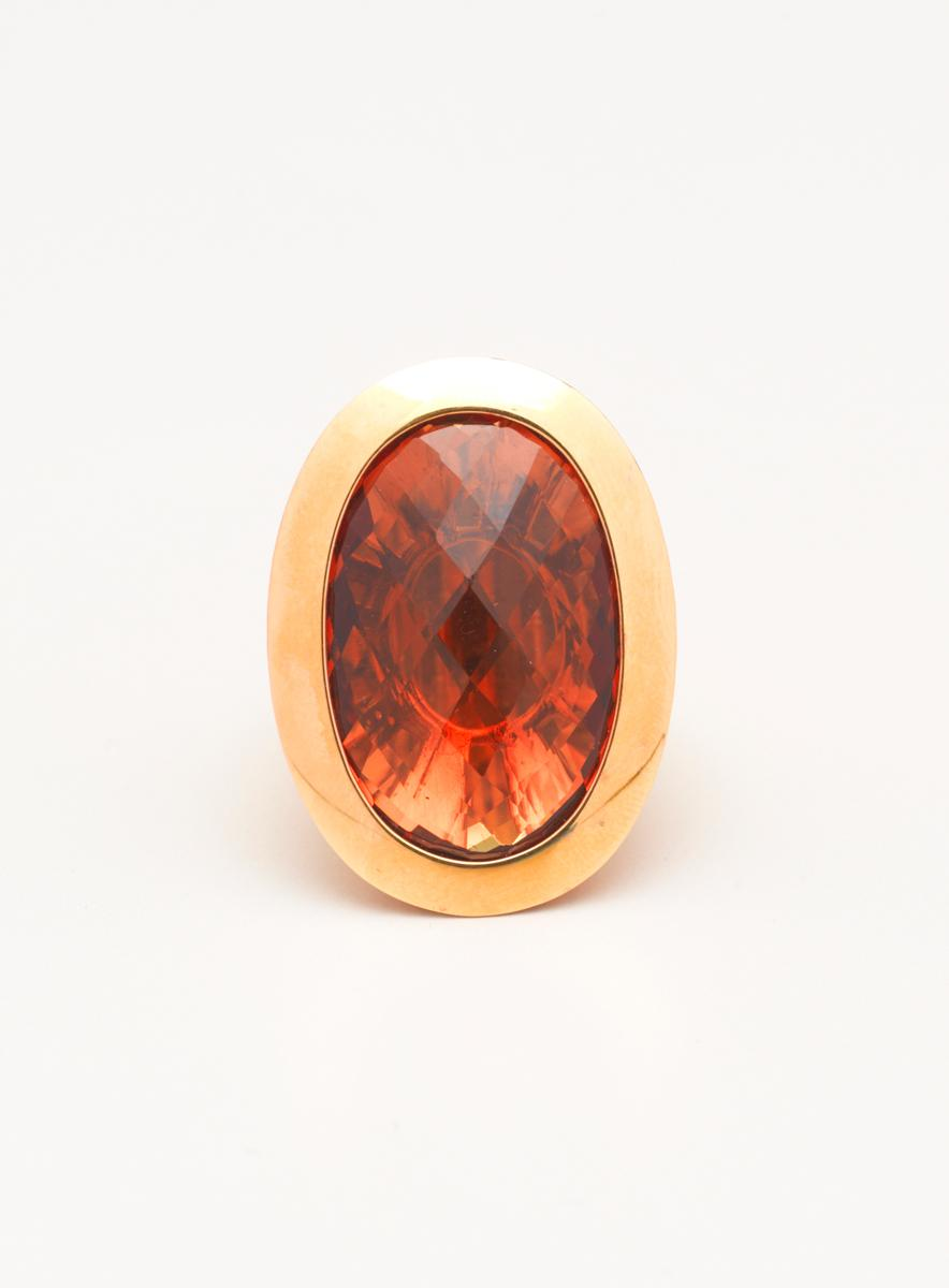 Rebecca Bronze Ring With Hydrothermal Stone - Thumbnail 1