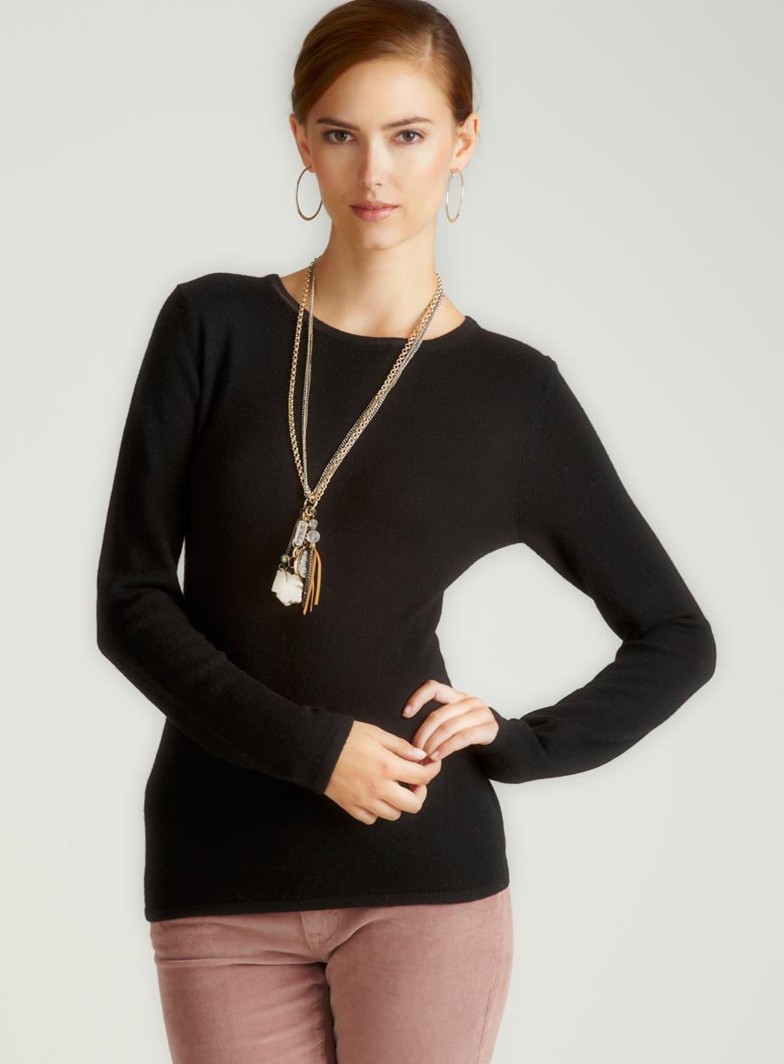 Evelyn Cashmere Black Cashmere Pullover
