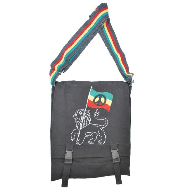 Jah Lion Hemp Messenger Bag (Nepal)