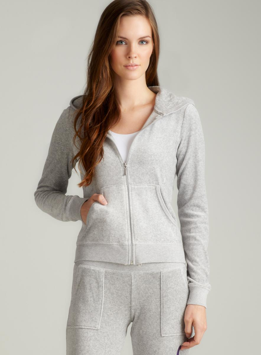 Juicy Couture L/S Hoodie With No. 1 Juicy