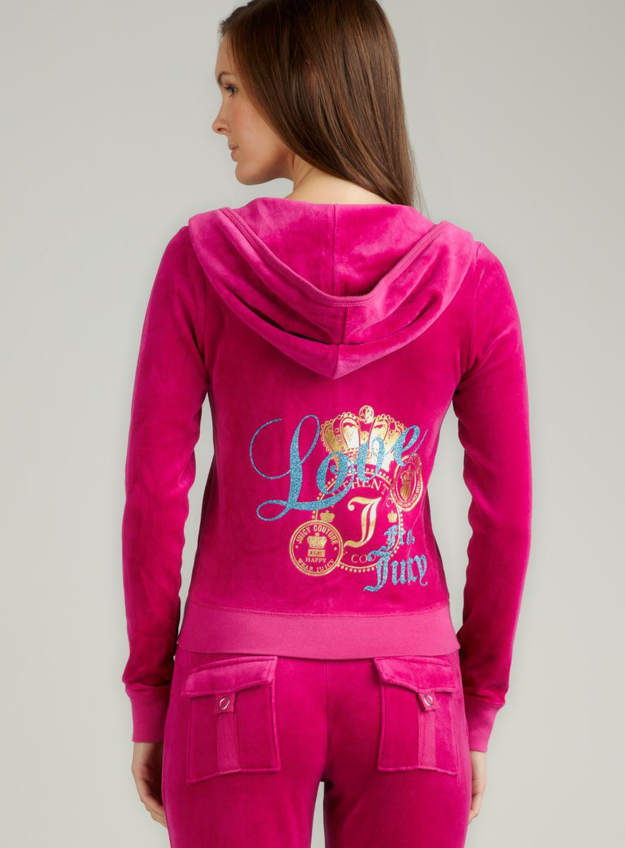 Juicy Couture L/S Hoodie With Love From Juicy - Thumbnail 1