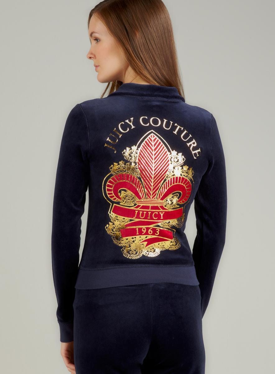 Juicy Couture L/S Track Jacket With Fleur De Lys