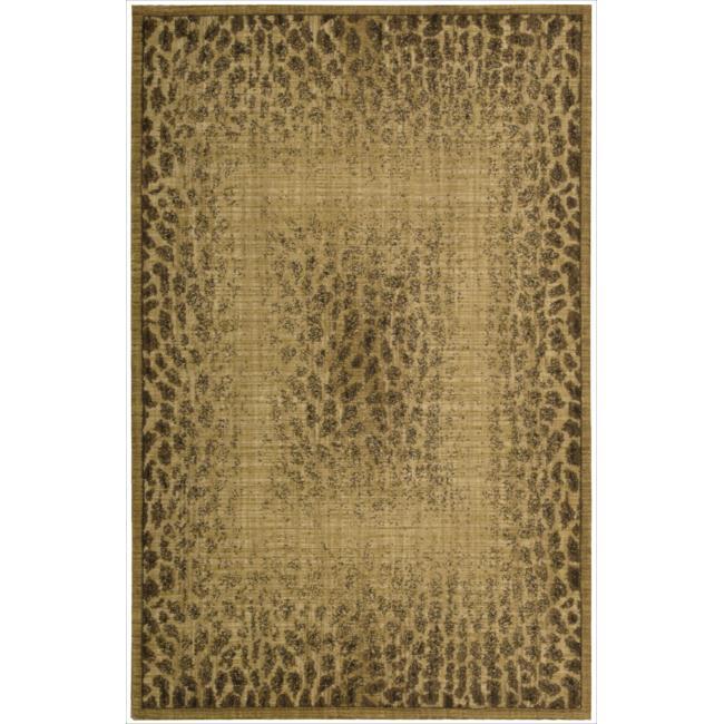 Nourison Liz Claiborne Radiant Impression Transitional Giraffe Print Beige Rug (3'6 x 5'6)