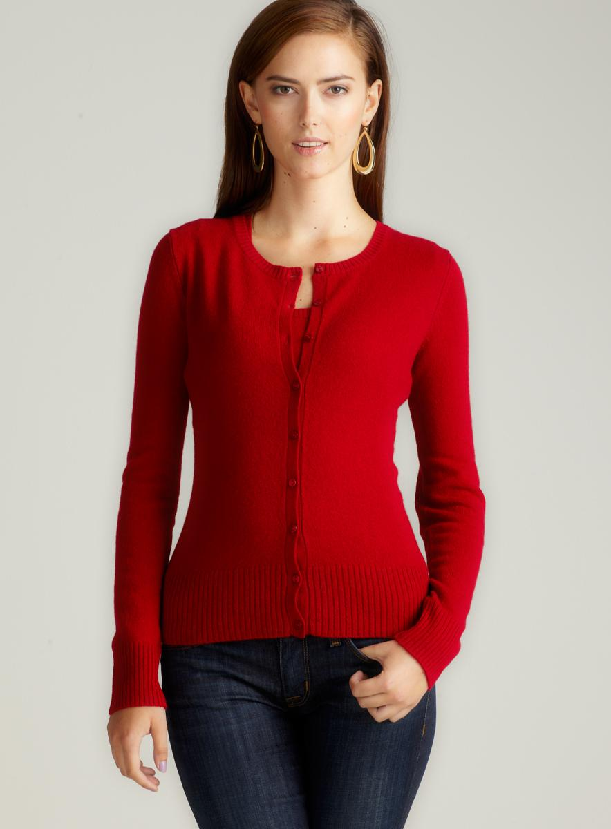 Evelyn Cashmere D2-Jersey L/S Cardigan T/S