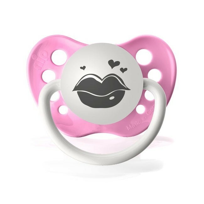 Personalized Pacifiers Lovey Lips Pacifier in Pink
