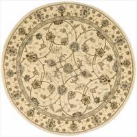 Nourison 2000 Hand-tufted Tabriz Ivory Rug (6 x 6) Round