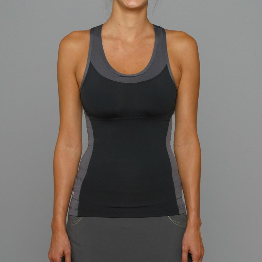 SportHill Women's Madison Black/ Pewter Fitness Tank Top
