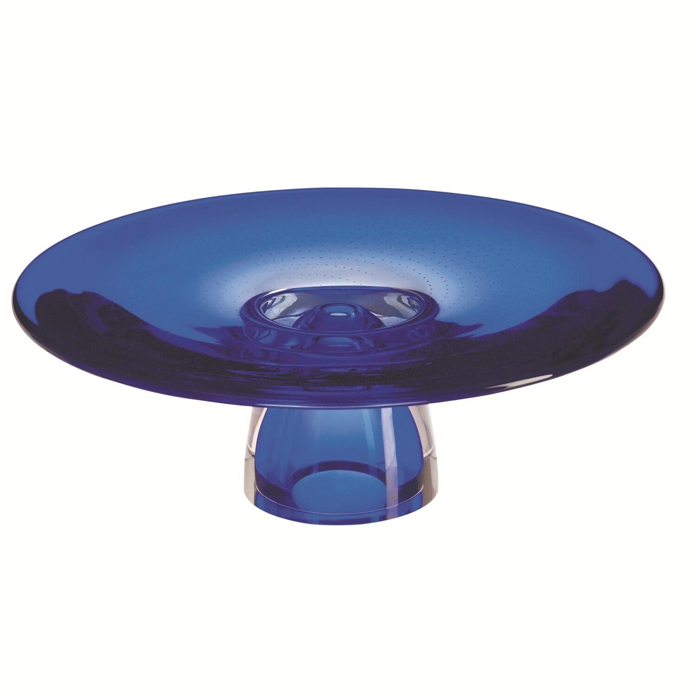 Kosta Boda 'Zoom' Blue Glass Cake Plate