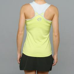 SportHill Women's Crescent Lime Fitness Tank Top