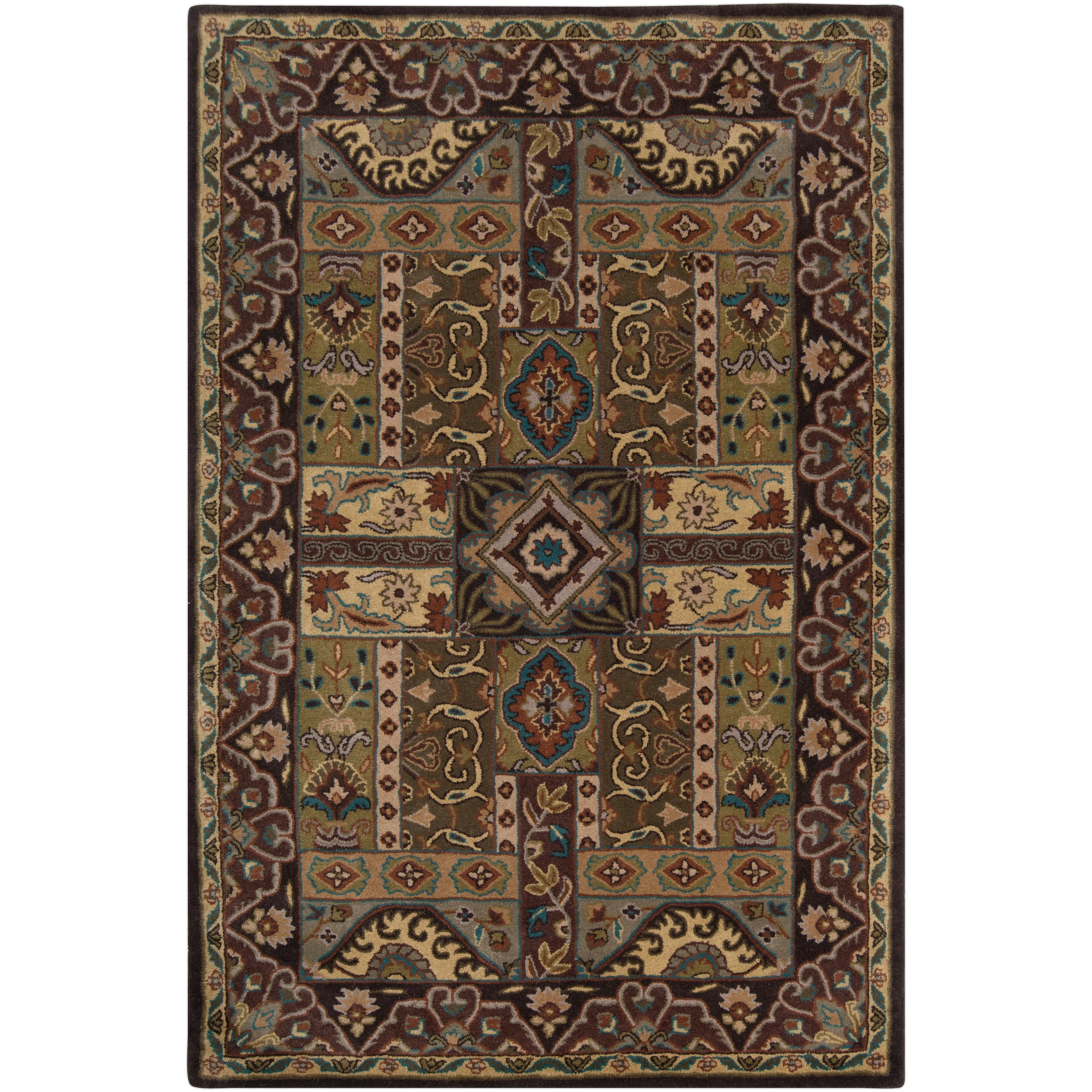 Hand-tufted Sandon Brown Wool Rug (2' x 3')