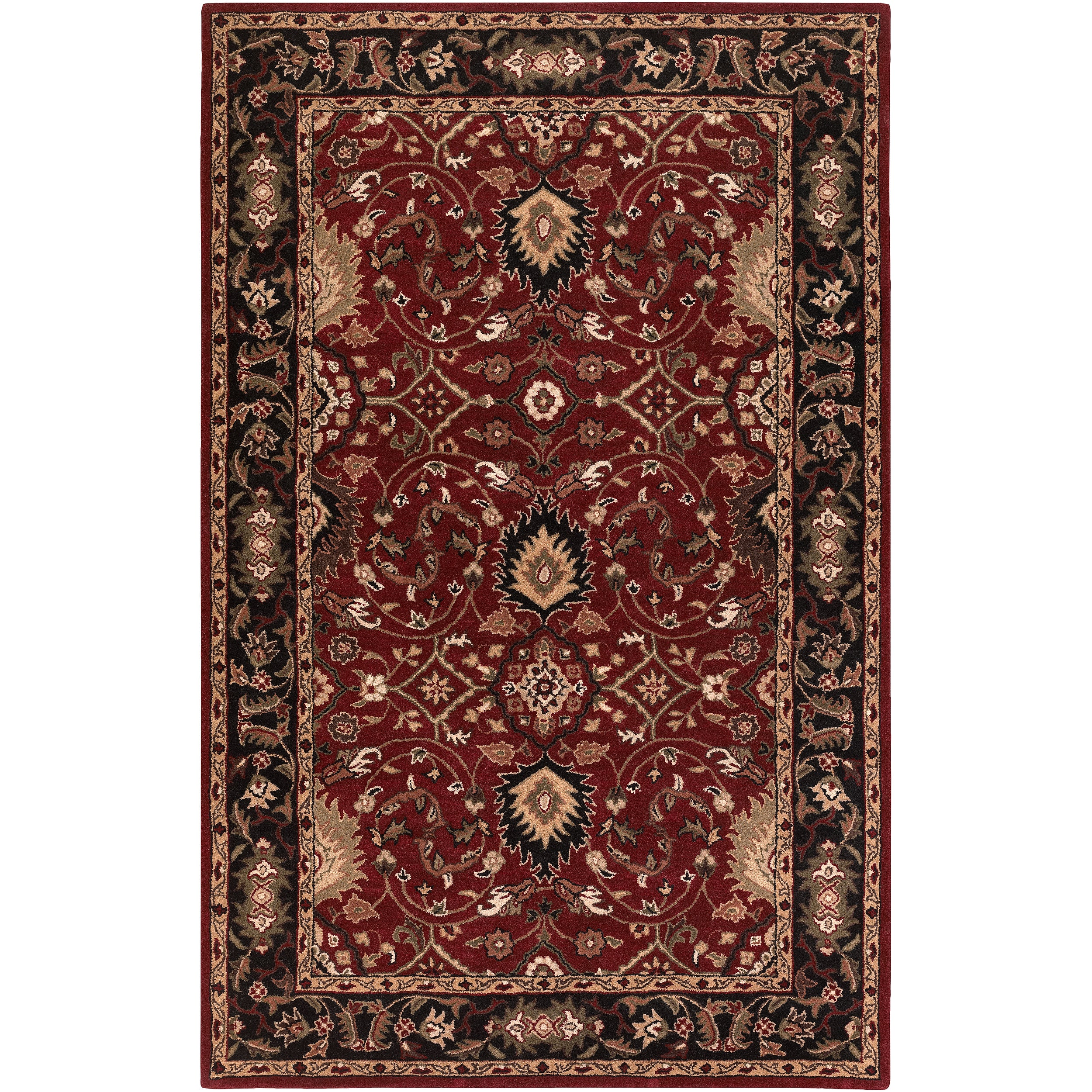 Hand-tufted Santel Red Wool Rug (2' x 3')