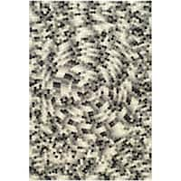 Safavieh Handmade Soho Mosaic Modern Abstract Black Wool Rug (8' 3 x 11') - 8'3 x 11'