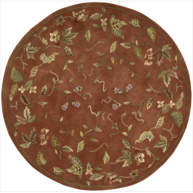 Nourison Hand-tufted Julian Floral Spice Rug (6' Round)