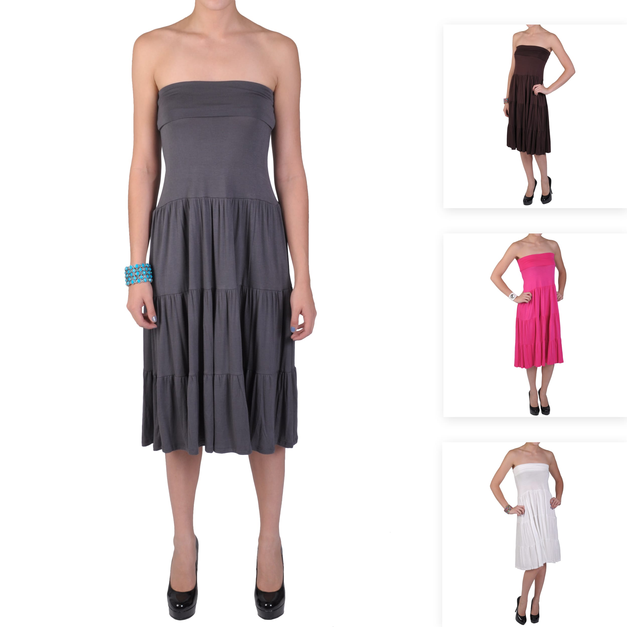 Journee Collection Juniors Long Tiered Skirt dress Today $20.99   $25