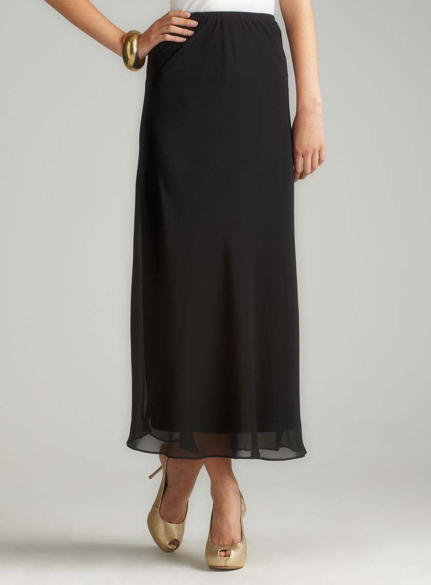 MSK Long Chiffon Skirt
