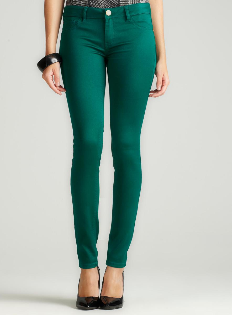 Tinseltown Color Skinny Jean In Emerald - Free Shipping On Orders ...