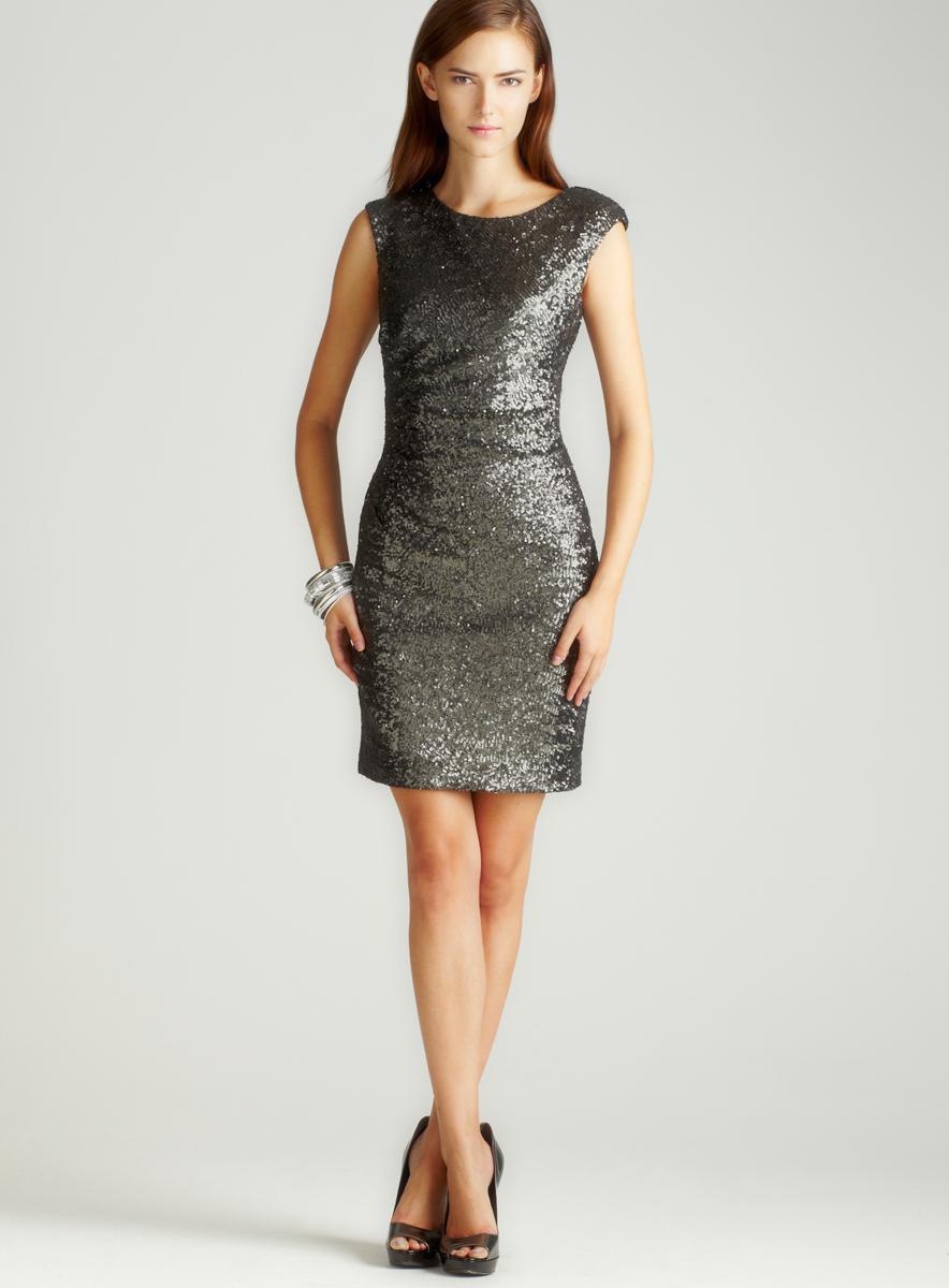 Love Carmen Sequin Velvet Dress