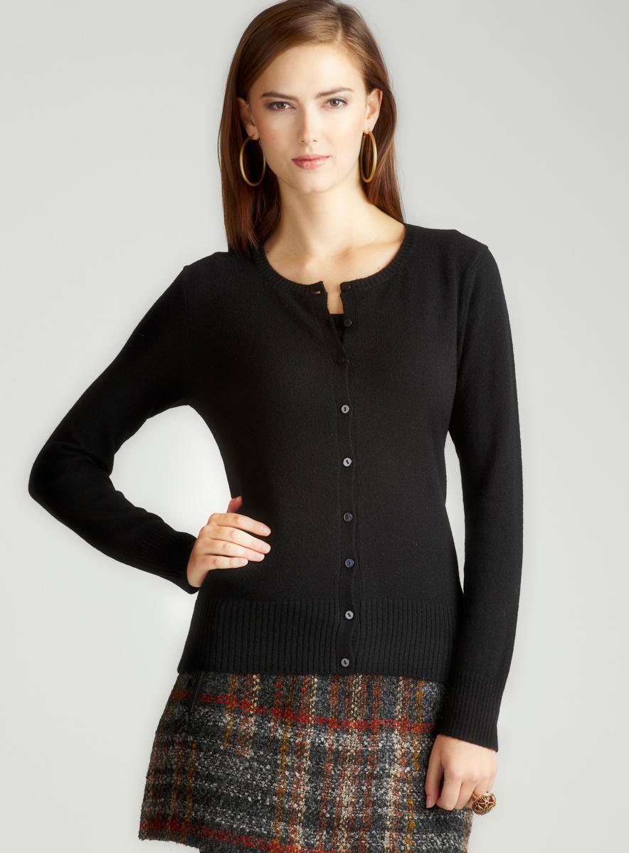 Evelyn Cashmere Cashmere Cardigan With Buttons