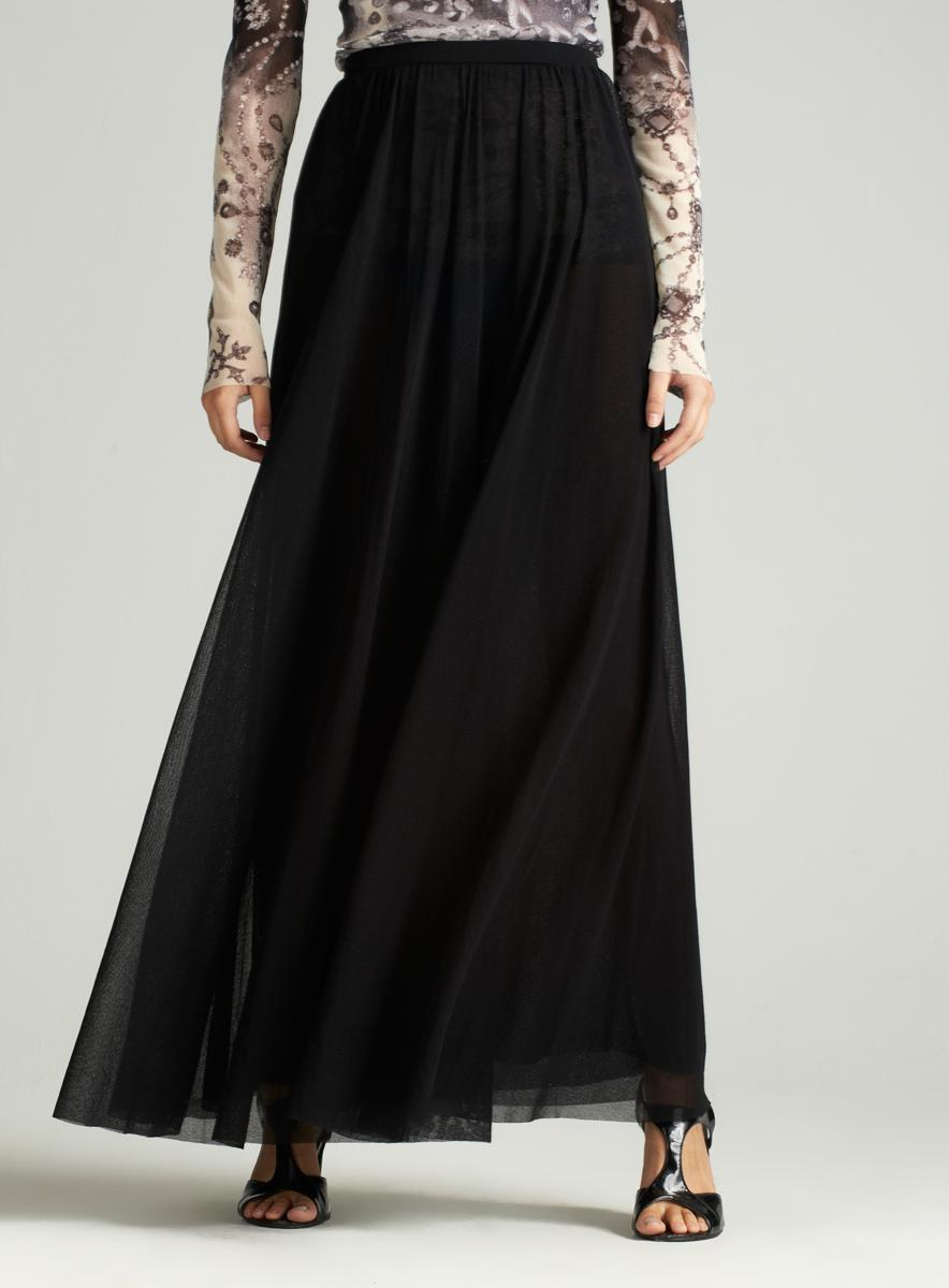 JPG Soleil Long Mesh Maxi Skirt