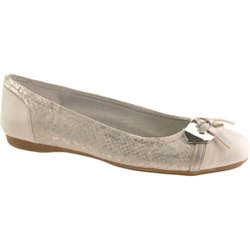 Women's Bandolino Wound Up Silver/White Multi Fabric